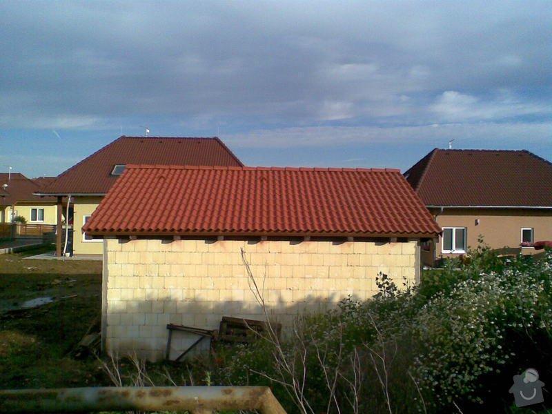 Pokrytí střechy garáže: gar1