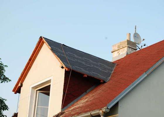 Oprava střechy po vichřici