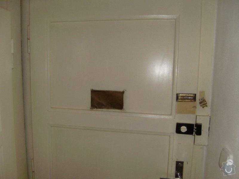 Úprava vstupních dveří do bytu, nové interiérové dveře,- dodávka, montáž, : P6220003
