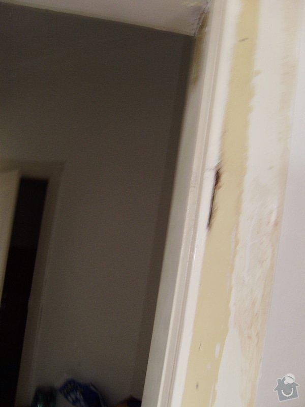 Úprava vstupních dveří do bytu, nové interiérové dveře,- dodávka, montáž, : P6220008