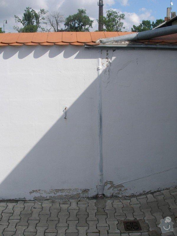 Zednické práce - sanační štuk: Okap