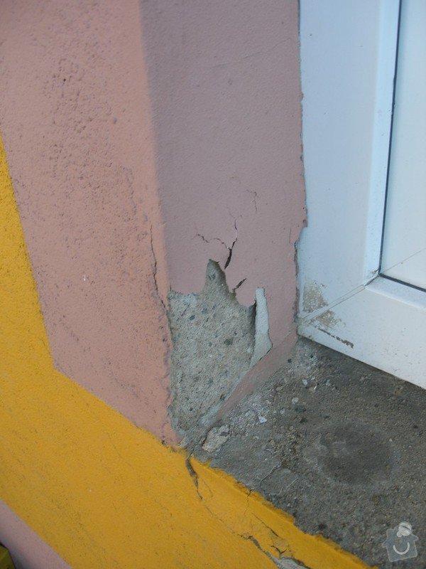 Zednické práce - sanační štuk: Okno2-zvenku_2_