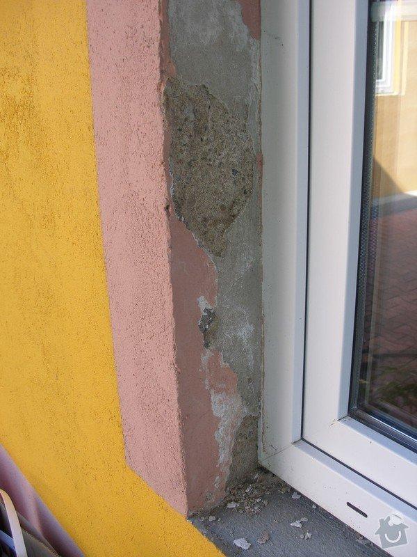Zednické práce - sanační štuk: Okno1-zvenku_2_