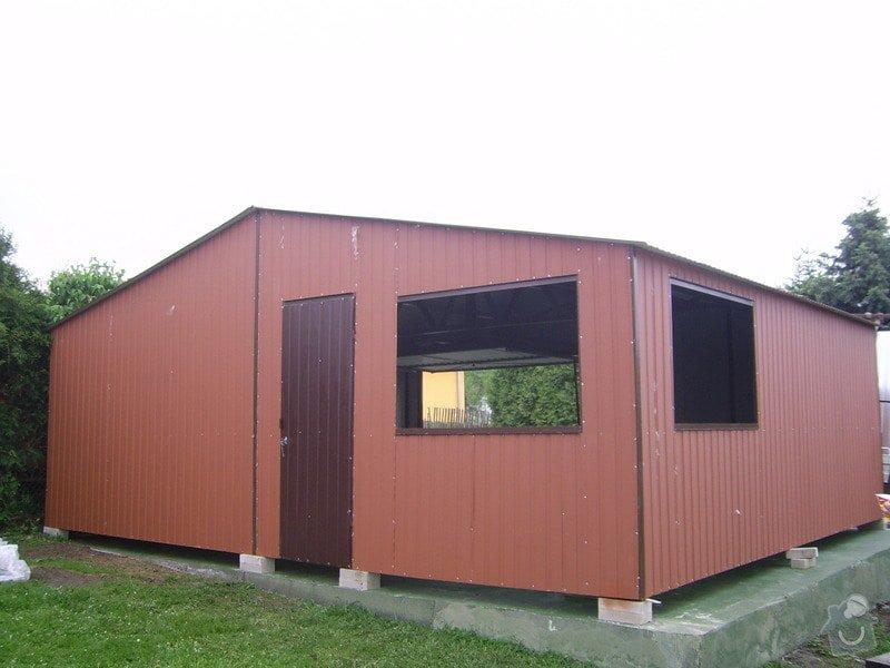 Plechová montovaná garáž: SSA40267