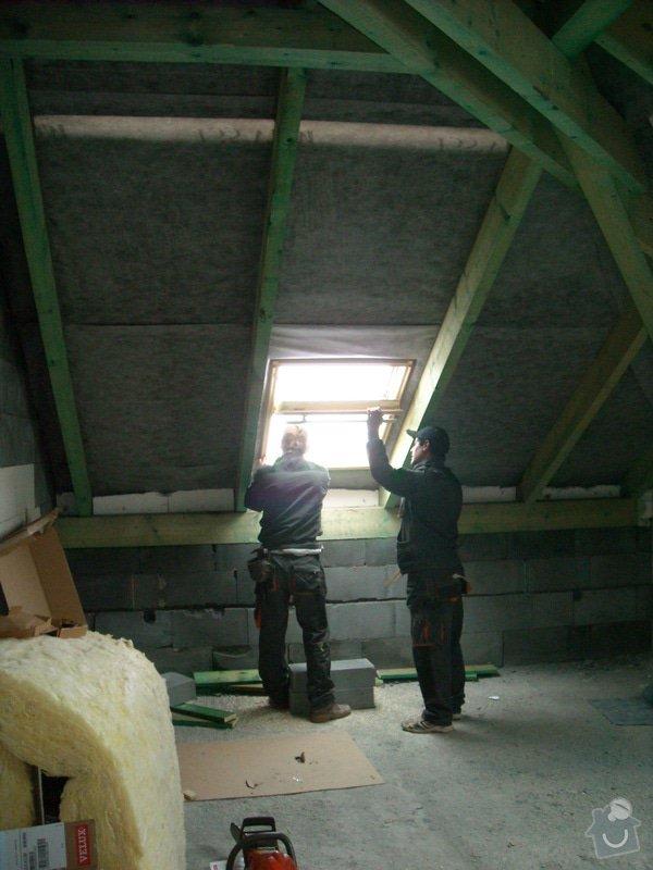Kompletní zateplení střechy + sádrokartonářské práce - včetně materiálu: sn_mek_035