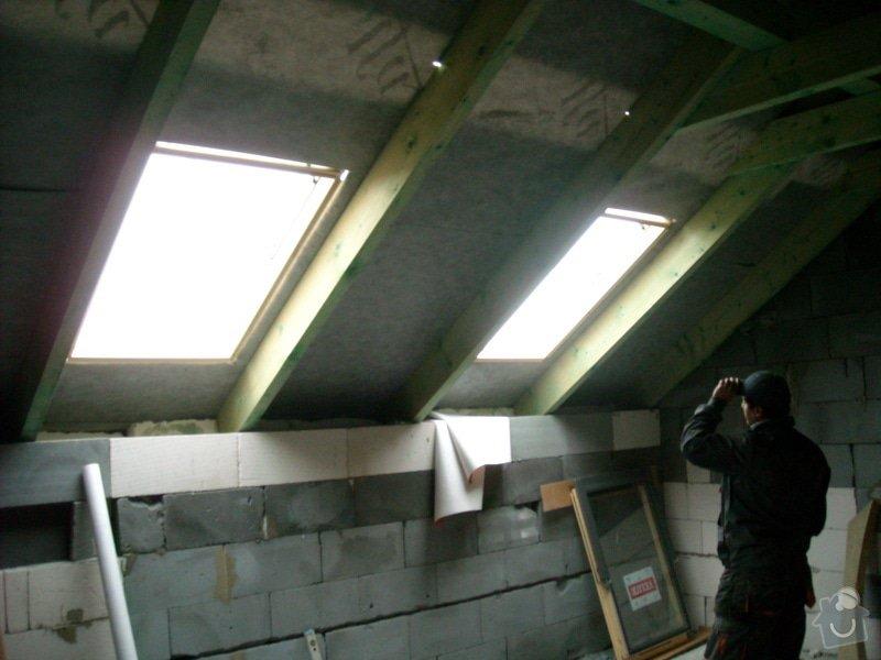 Kompletní zateplení střechy + sádrokartonářské práce - včetně materiálu: sn_mek_018