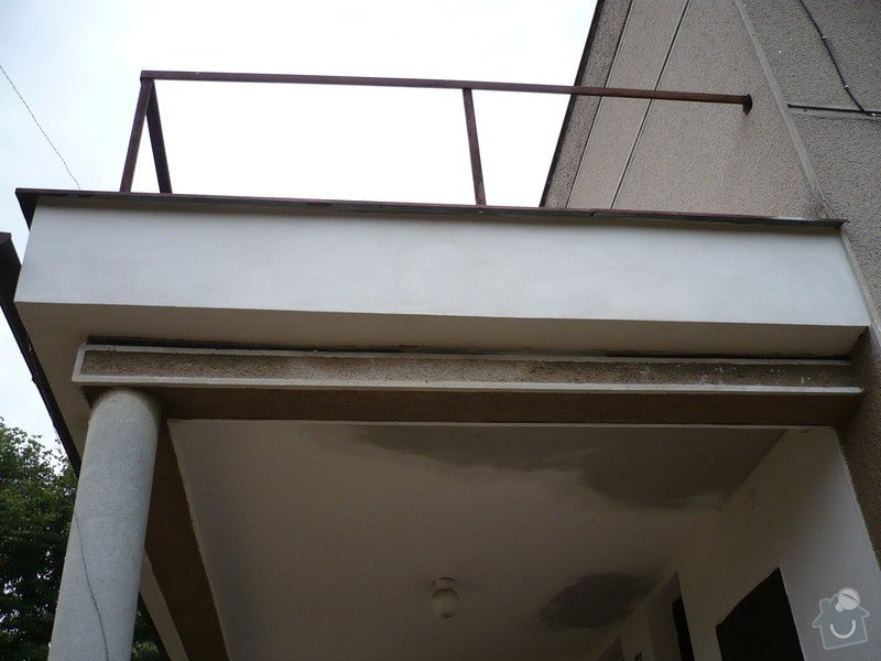 Izolace a pokládka dlažby na terase.: P1030454