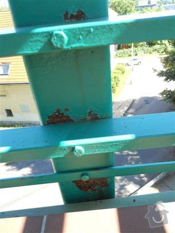 Kompl. rekonstrukce povrchu balkónu ca 8 m2, oprava nátěru kovového zábradlí: reznouci_zabradli