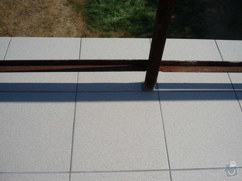 Izolace a pokládka dlažby na terase.: P1030465