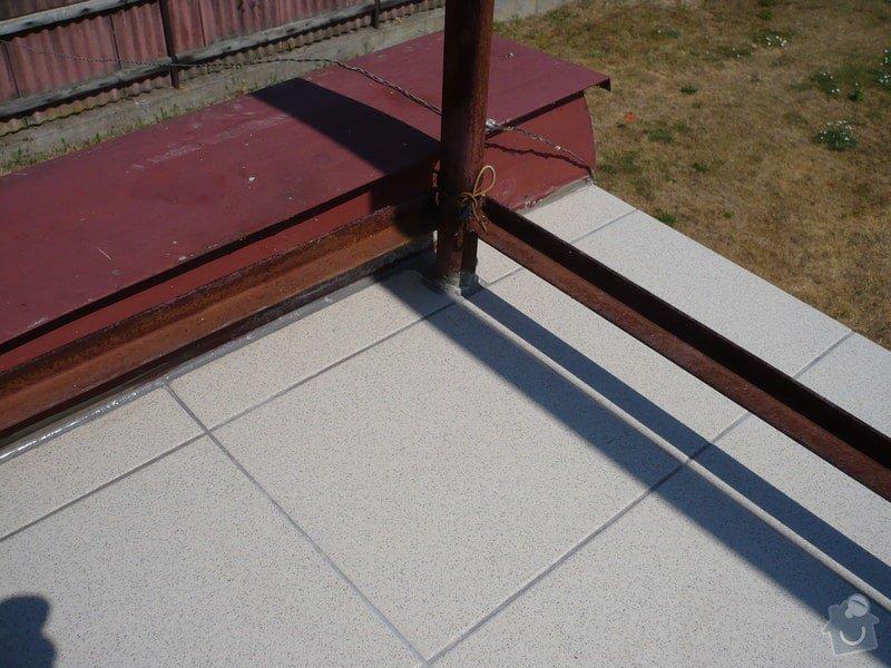 Izolace a pokládka dlažby na terase.: P1030466
