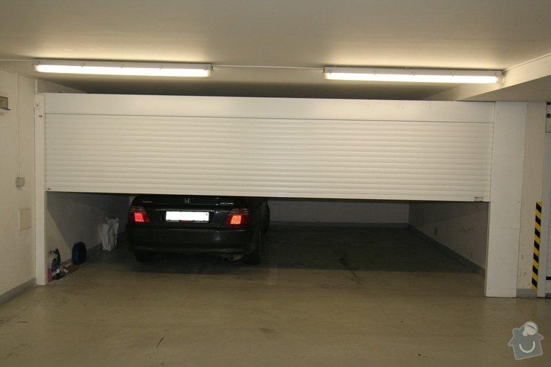 Garážová vrata v podzemní garáži: garaz_2