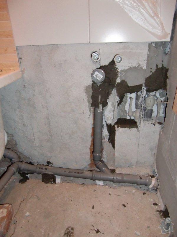 Renovace koupelny: vsazeni_odpadu