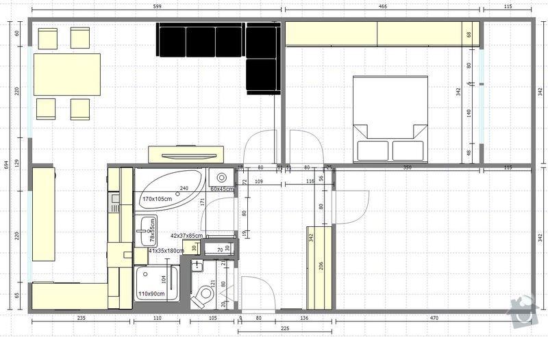 Truhlářské práce, kuchyň, obývák, vestavěné skříně: NovyByt