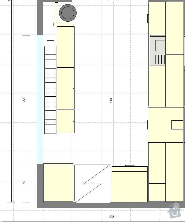 Truhlářské práce, kuchyň, obývák, vestavěné skříně: Pohled_kuchyn_detail