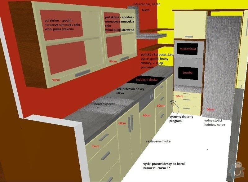 Truhlářské práce, kuchyň, obývák, vestavěné skříně: Pohled_kuchyn01popis