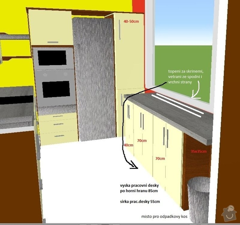 Truhlářské práce, kuchyň, obývák, vestavěné skříně: Pohled_kuchyn02popis