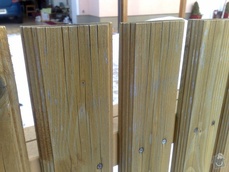 Výroba dřevěného plotu u RD: Plot_detail