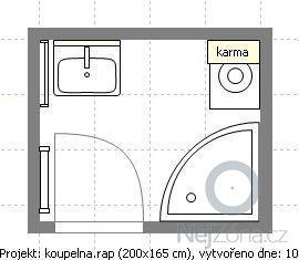 Rekonstrukce zděné koupelny a WC: koupelna1