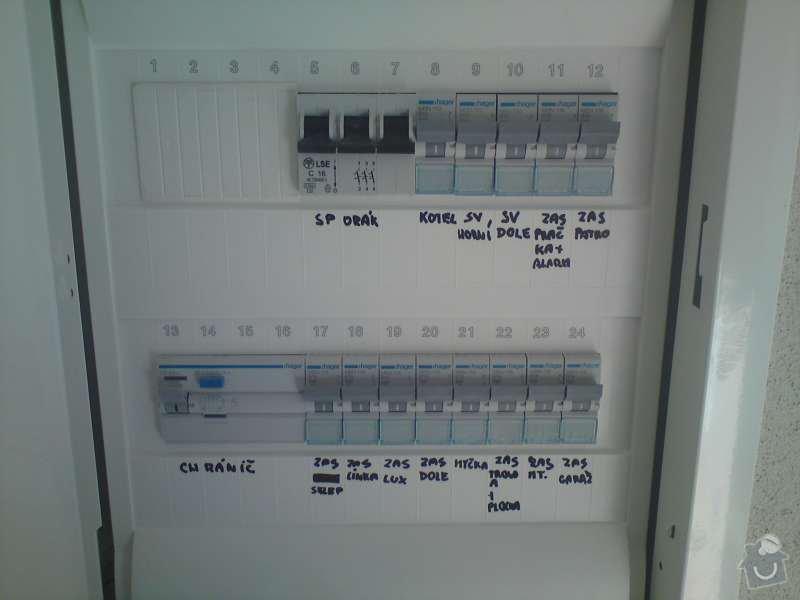 Elektroinstalace rodinný dům Štěnovický Borek: DSC00323