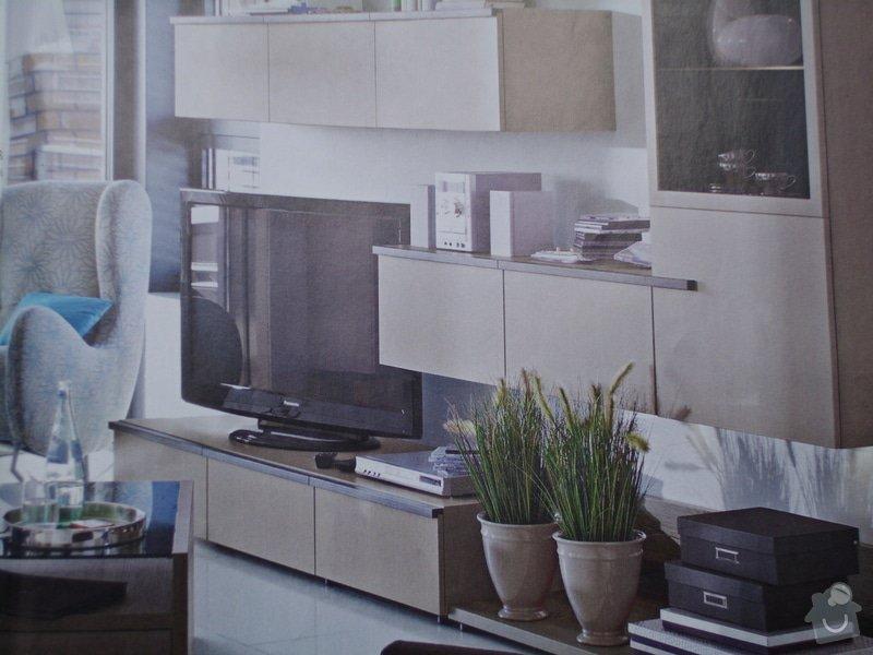 Montáž nábytku z Aska a zavěšení zrcadla z Ikey: Priblizny_navrh_realizace