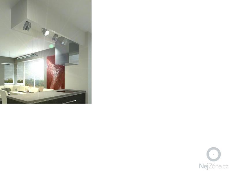 Obklad stěny, podhled ze SDK a montáž/zapojení ostrůvkové digestoře : SDK_podhled