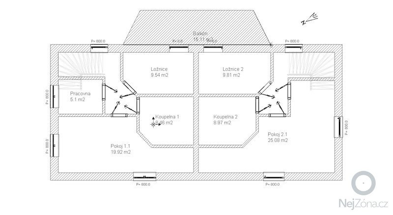 Výstavba hrubé stavby rodinného dvojdomku: Patro