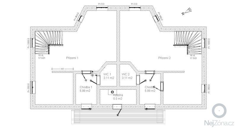 Výstavba hrubé stavby rodinného dvojdomku: P_zem_