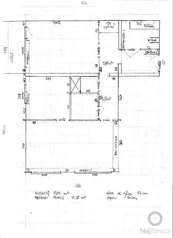 Rekonstrukce panelového bytu 2+1, 59 m2, Praha: Byt_-_nakres
