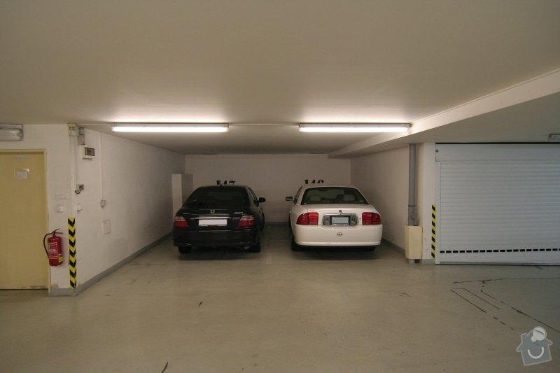 Garážová vrata v podzemní garáži: stav_pred