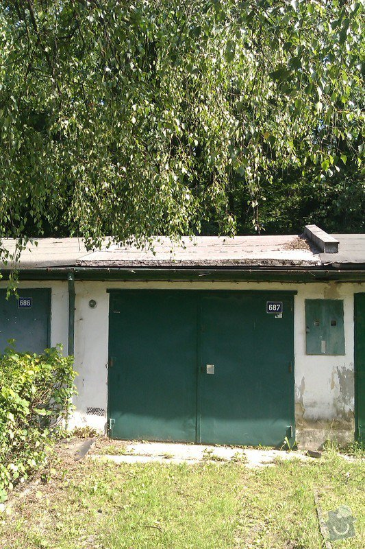Střecha řadové garáže: IMAG0049