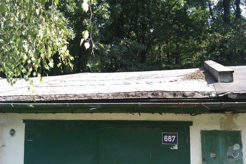 Střecha řadové garáže: IMAG0050