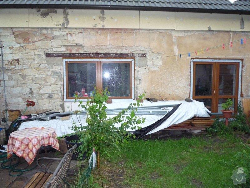 Zateplení fasády vč. omítky - řadový rodinný dům: Pohled_ze_dvora