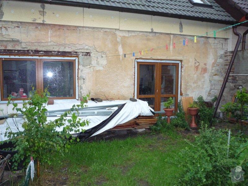 Zateplení fasády vč. omítky - řadový rodinný dům: Pohled_ze_dvora_I