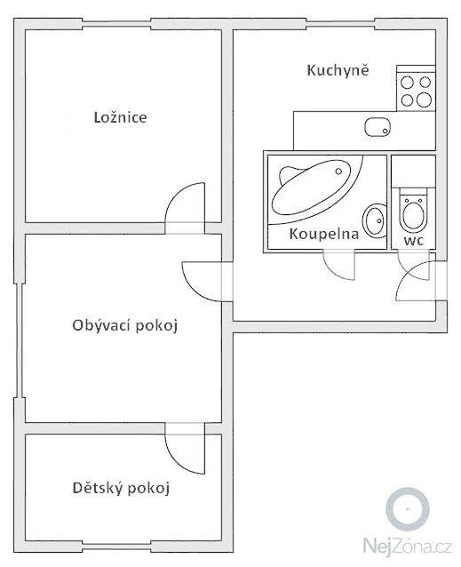Rekonstrukce bytového jádra, koupelny: Plan_bytu