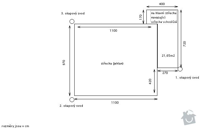 Rekostrukce plechové střechy + okapy: okapy