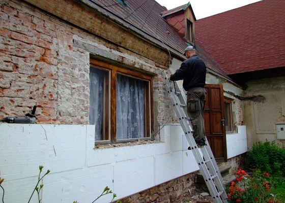 Zateplení fasády a prodloužení střechy