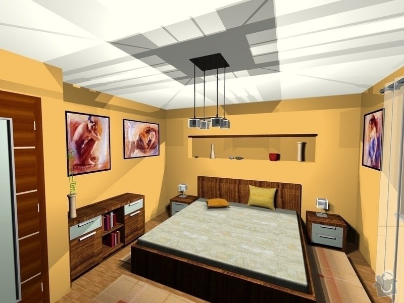 On-line návrh interiéru ložnice: Loznice2