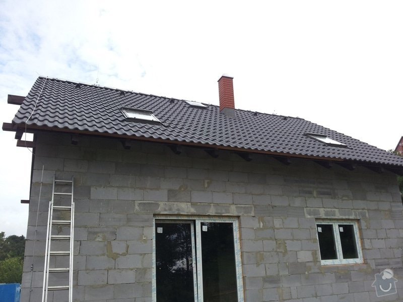 Montáž Hromosvodu na RD  Pan Vrána. Dubnice.: 2011-07-29_09.00.56