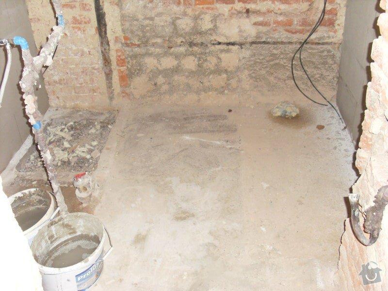 Kompletni zednicke prace, podlahy, obklady, vymena dveri: koupelna