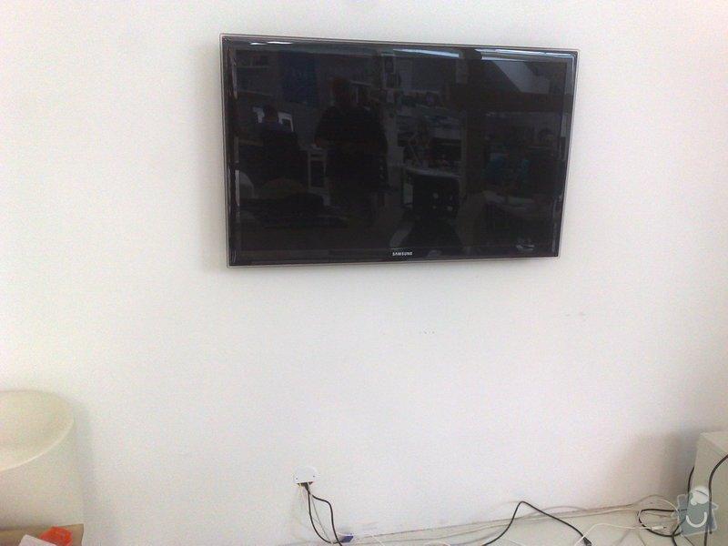 Montáž televize LCD na zeď s náklopným držákem tv.: 01082011738