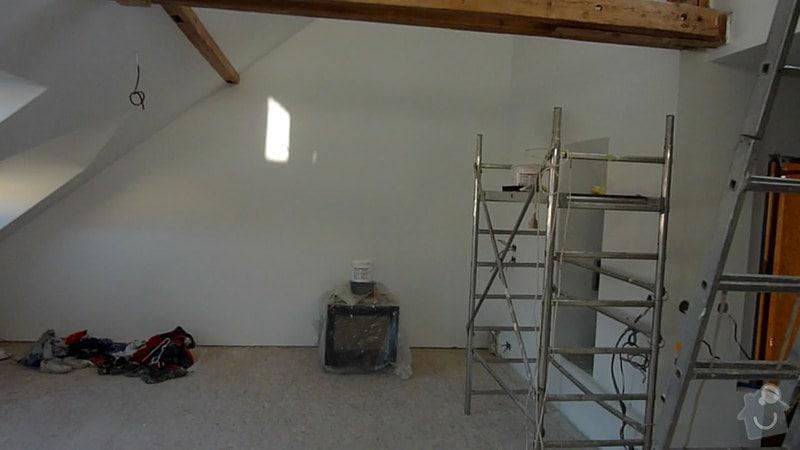 Malířské práce podkrovní byt: 004