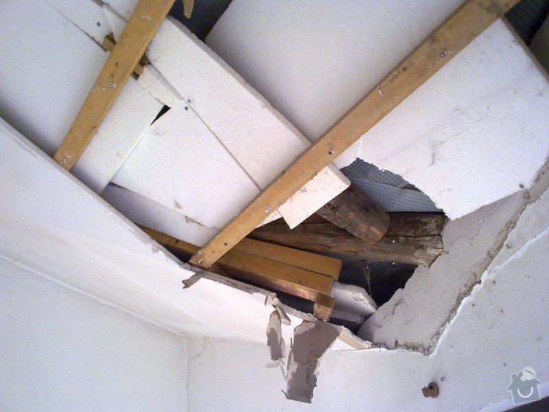 Snížení a zatepleni atypického stropu: 13052011784
