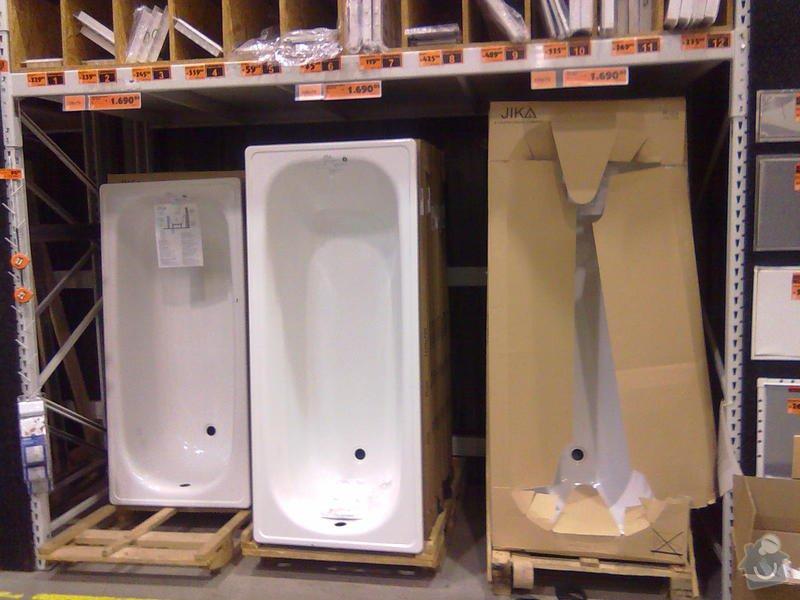 Výměna vany v paneláku+ zapojení aut.pračku-odpad: Vana_uprostred_-_160_delka