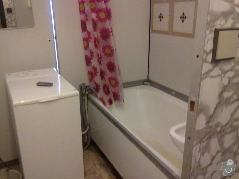 Výměna vany v paneláku+ zapojení aut.pračku-odpad: delka_vany_160x74