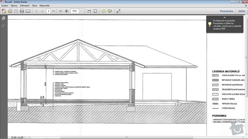 Střecha - tesařské práce: Rez