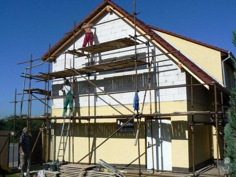Povrchová úprava fasády, vč. částečného zateplení obvodového pláště: P1030546_R