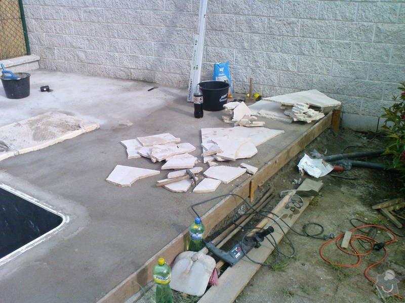Zhotovení terasy a pokládka divokého travertinu: DSC00233