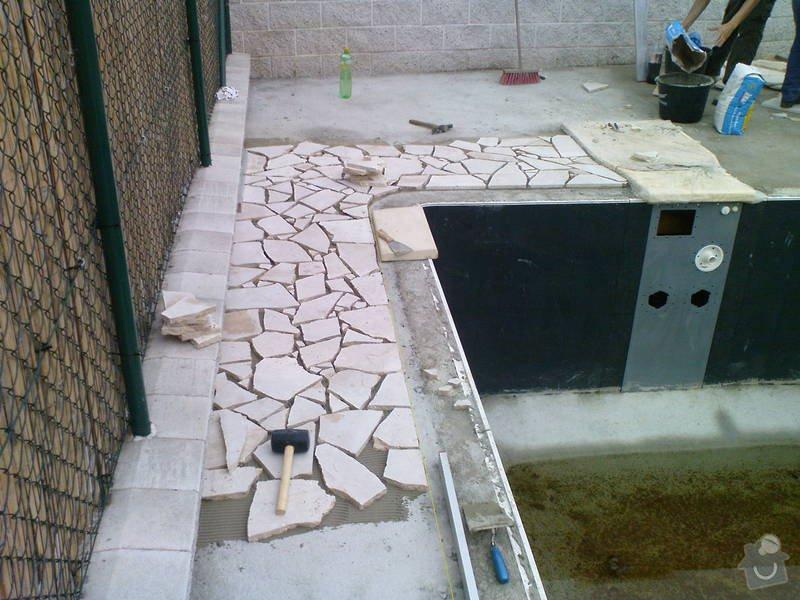Zhotovení terasy a pokládka divokého travertinu: DSC00234