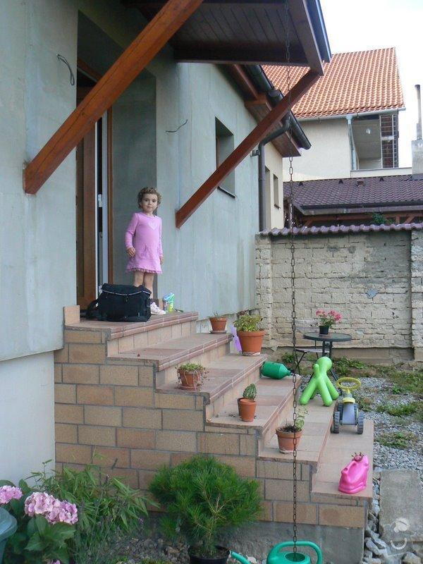 Instalace zabradli na venkovni schodiste: P1030061