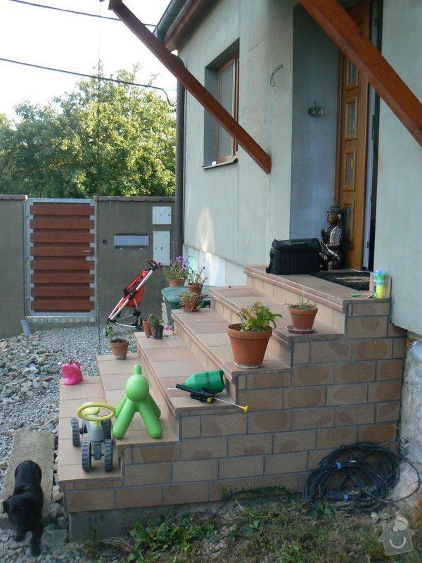 Instalace zabradli na venkovni schodiste: P1030063